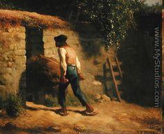 Peasant with a Wheelbarrow, 1848-5 - Jean-Francois Millet