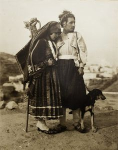 Wedding Portrait from Skyros island,Greece 1928 Old Photos, Vintage Photos, Greek Traditional Dress, Zorba The Greek, Greece Photography, Greek Culture, Greek Wedding, Athens Greece, Greek Islands