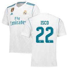 Isco Real Madrid adidas 2017 18 Home Replica Patch Jersey - White d57d94816