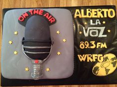 Radio Host Cake Radio Show cake Microphone cake/on the air
