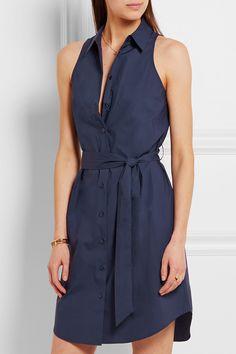 Equipment | Robe-chemise en popeline de coton à ceinture Claudia | NET-A-PORTER.COM