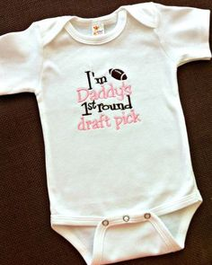 First Round Draft Pick Onesie ($18)