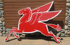 Reproduction Mobil Pegasus Cookie Cutter Sign *Gas