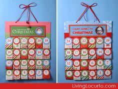 Free Printable Personal Christmas Advent Calendar: Star Wars, Santa, and Nativity