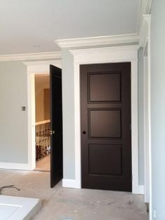 white trim with wood doors - Google Search