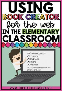Using Book Creator for the Web in the Elementary Classroom: This digital tool will allow students to create paperless books on Chromebooks, laptops, desktops, iPhones, Androids and any device that will run a Chrome browser. Very similar to the Book Creato Educational Websites, Educational Technology, Instructional Technology, Instructional Strategies, Assistive Technology, Teacher Blogs, Teacher Resources, Teacher Hacks, Classroom Resources