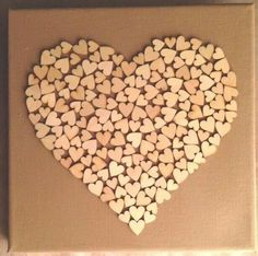 Hartje met hartjes Decor Crafts, Diy And Crafts, Arts And Crafts, Paper Crafts, Heart Canvas, Heart Art, Diy Wall Art, Diy Art, Valentine Heart