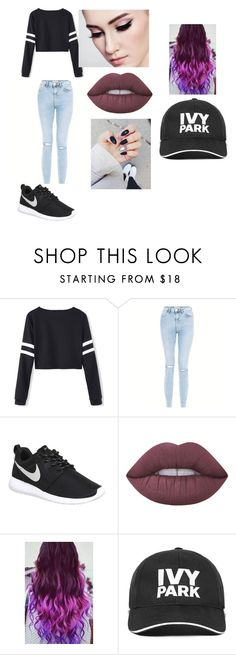 """school day"" by daniellem618 on Polyvore featuring New Look, NIKE, Lime Crime and Ivy Park"