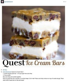 Yes I want to make, looks so delish. Quest bar ice cream sandwich