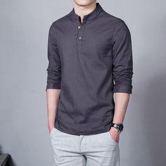 Loldeal 2018 Asian Fashion Long Sleeve Mandarin Collar Mens Shirts Male Casual Linen Shirt Men Plus Size White-cgabuy Casual Shirts For Men, Men Casual, Summer Shirts, Mandarin Collar, Asian Fashion, Male Fashion, Shirt Style, Spring Summer, Spring Tops