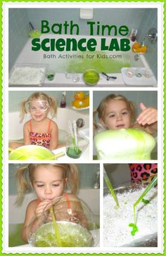 Bath Time Science Lab with 5 FUN experiments perfect for the bath!