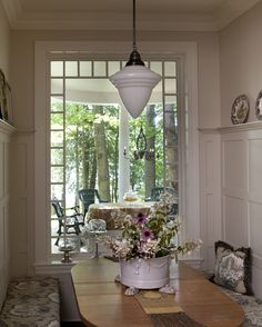 Let the window be the artwork in the dining room. #dining room