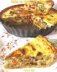 Tarta cu vinete si masline ~ Culorile din farfurie Raw Vegan, Food Videos, Quiche, Food And Drink, Cooking Recipes, Vegetarian, Dinner, Healthy, Breakfast