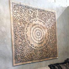 Wall decor Carved Wood Wall Art Panel Wall Hanging Teak Paneling Wall sculpture 300x300 - Mandala Carved Wood Wall Art Panel