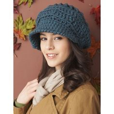 Slouchy Peaked Hat in Bernat Softee Chunky. Discover more Patterns by Bernat at LoveKnitting. The world's largest range of knitting supplies - we stock patterns, yarn, needles and books from all of your favourite brands.