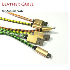 Find More Mobile Phone Cables Information about 1M 2.4A Pure Hand Sewn Leather Cable for iPhone 5 5S 5C 6S 6Plus Plaid Design Charging Charger Data Sync Cable for Android Phone,High Quality cable vhs,China cable conductor Suppliers, Cheap cable turtle from Just Only on Aliexpress.com