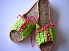 Alpargatas de ganchillo terminadas Annoos Crochet
