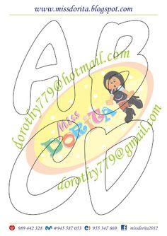 Moldes, Videos Tutoriales y Revistas Gratis de Foami, Goma Eva y microporoso, Compartir es nuestro lema y vayamos por la vida haciendo el Bien Fancy Letters, Bubble Letters, Lettering Design, Hand Lettering, Alphabet Art, Creative Cards, Diy And Crafts, Clip Art, Scrapbook