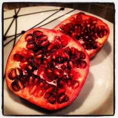 Day #329 - turns out its much harder to deseed a pomegranate than @jamieoliver makes it look...!
