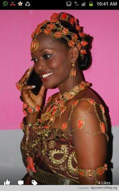 Nigerian traditional wedding ceremony Itshekiri brides