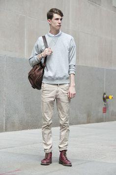 Men's casual street style.  Marc Sebastian Faiella