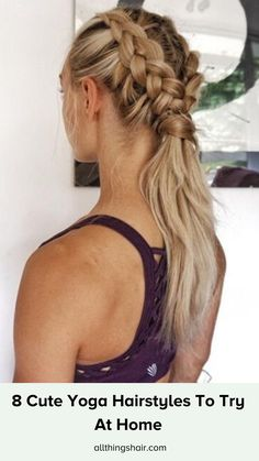 Having trouble finding workout-proof hairstyles you can wear for yoga? What you need are hairstyles that'll not only do the job and keep your hair out of your face but also look good. So, grab your mat and give one of these nama-slaying styles a try! Active Hairstyles, Track Hairstyles, Athletic Hairstyles, Heatless Hairstyles, Workout Hairstyles, Hairstyles Haircuts, Cool Hairstyles, Hairstyles Videos, Cute Sporty Hairstyles