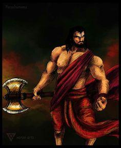 Parashurama by VarunCreations on DeviantArt Shiva Hindu, Shiva Shakti, Hindu Deities, Hindu Art, All God Images, Krishna Avatar, Mythological Characters, Lord Shiva Pics, Shri Hanuman