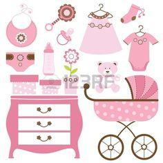 Baby shower de color rosa Foto de archivo