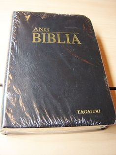Tagalog Bible / Black Leather Bound, with Golden Edges and Thumb Index