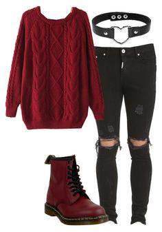 """comfy days"" by freezeyour-brain on Polyvore featuring Dr. Martens"