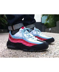 a0924101d6 Nike Air Max 95 Custom Pink Black Blue Shoes Air Max 95 Mens, Clearance  Shoes