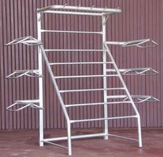 6 Tier Saddle Rack with Blanket Rods and Bridle Hooks