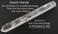 Using crystal wands for energy work