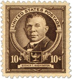 The 10c Booker T. Washington stamp, issued April 7, 1940 was the first Black American stamp issued in the United States