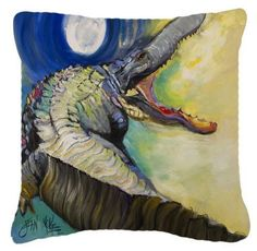 Alligator Canvas Fabric Decorative Pillow JMK1207PW1414
