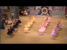 They have WINGS on their tiaras.  Time flies, I guess!   Bolshoi Ballet- Coppelia: Waltz of the Hours.