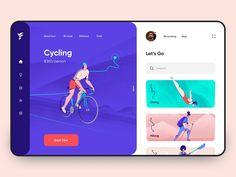 Sports App - App Design by Anastasia Dashboard Ui, Dashboard Design, Ui Ux Design, Interface Design, User Interface, Mockup Design, Design Layouts, Web And App Design, Design Websites