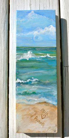 Custom Sand painting order 4x12 by ASliceofTheBeach on Etsy