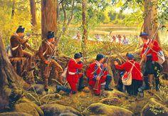British Light Infantryman in ambush during the Seven Years' War