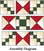 Crossing Ohio Star Pattern free from McCall's Quilting. Above is the Assembly Diagram
