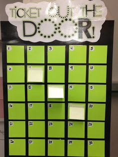 TICKET OUT THE DOOR - excellent idea for exit questions and reflections!