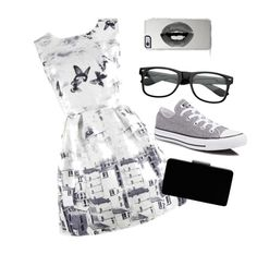 """""""Paris"""" by inspired-outfits-from-tv ❤ liked on Polyvore featuring Converse, John Lewis and Lipsy"""