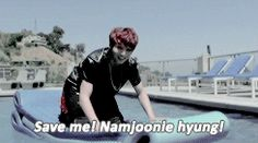 JJk Do you need Help, but RM can't hear a thing // LOLOLOL AAAH SO CUTE OTP Namjoon Jungkook namkook