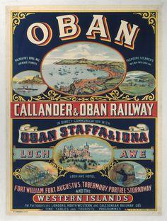 Vintage Callander Oban Railway A3 Poster Reprint