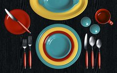 Love these Fiesta colors!!!  Check out my Colorama by Fiesta® customized table setting! Click to create your own.