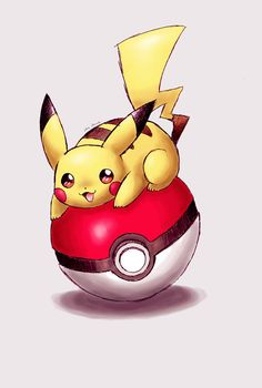 I decided to make another Pikachu+pokeball pic. This is way better I think ... anyways enjoy!