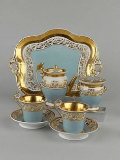 Wonderful Russian Tete a Tete set circa 1850