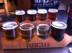 Rogue Ales Public House Brewery in Newport Oregon, good beer, good food, great view