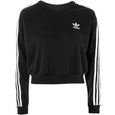 3 Stripe Cropped Sweatshirt by Adidas Originals ($56) ❤ liked on Polyvore featuring tops, hoodies, sweatshirts, color blocked sweatshirt, cropped sweatshirt, block top, crop top and color-block sweatshirt
