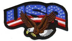 "Embroidered Iron On Patch - USA American Flag Eagle 4.5"" Patch Embroidered Iron On Patch http://www.amazon.com/dp/B008YPIHKS/ref=cm_sw_r_pi_dp_HeGWtb16TRHJ0CY5"